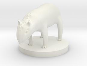 Tapir - Riding Tapir in White Natural Versatile Plastic