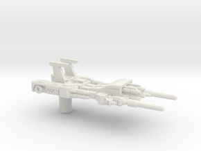 Greatshot Gun Mode (3mm, 5mm) in White Natural Versatile Plastic: Medium