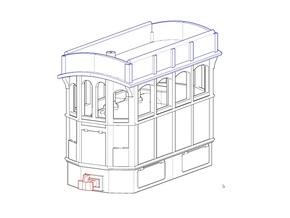 009 Steam Tram Engine  in White Natural Versatile Plastic