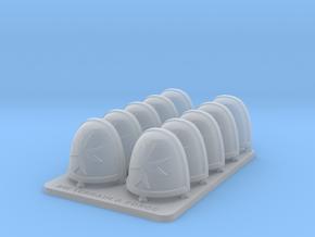 Space Templar V7 Rimmed Shoulder Pads in Smooth Fine Detail Plastic