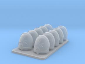 Space Templar V10 Reaper Rimmed Shoulder Pads in Smooth Fine Detail Plastic
