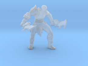 Kratos god of war Attack Stance DnD miniature game in Smooth Fine Detail Plastic