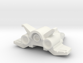 Banshee Style Aero Fighter Mech Buster in White Natural Versatile Plastic