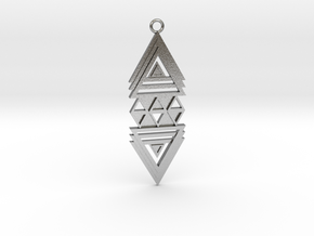 Geometrical pendant no.19 in Natural Silver: Large
