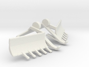 1/35 Scale Mine Plow in White Natural Versatile Plastic