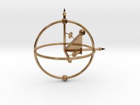 Bloch Sphere in Polished Brass