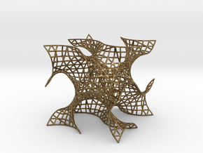 Gyroid Mesh, single cell in Natural Bronze