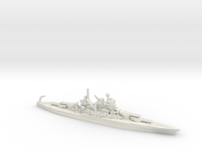 US New Mexico-Class Battleship in White Natural Versatile Plastic