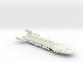 3788 Scale Hydran Sioux Division Control Ship CVN in White Natural Versatile Plastic