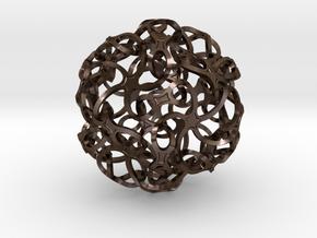 TRIACON_ICOSI in Polished Bronze Steel