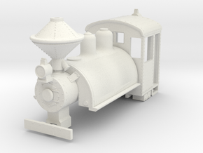 b-76-baldwin-0-6-0-saddletank-loco in White Natural Versatile Plastic
