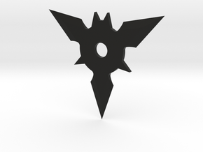 Bat Shuriken in Black Natural Versatile Plastic: Medium