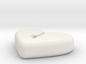 Unlock your heart in White Natural Versatile Plastic: Small