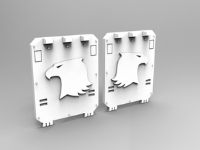 Raptor Small Transport Side Door Set V1 in Smooth Fine Detail Plastic