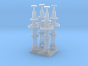 1/96 scale Mast antenna radio in Smooth Fine Detail Plastic