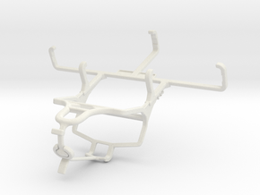 Controller mount for PS4 & Nokia 800 Tough - Front in White Natural Versatile Plastic