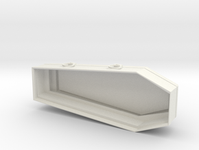 Wood Coffin 28mm 25mm - Vampire in White Natural Versatile Plastic: 15mm