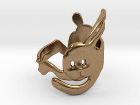 Run Rabbit Ring in Natural Brass