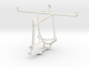 Controller mount for Steam & Honor Play 3 - Top in White Natural Versatile Plastic