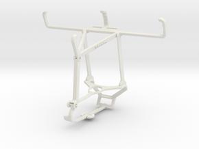 Controller mount for Steam & Nokia 800 Tough - Top in White Natural Versatile Plastic