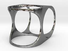 Offset Ring in Polished Silver: 7 / 54