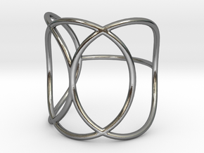 Wrapped Three Ring in Polished Silver: 7 / 54
