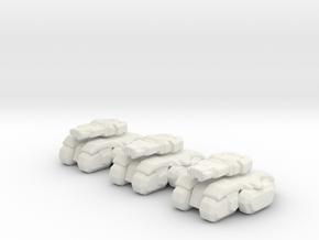 Starcraft Terran Tanks 6mm Vehicle Epic micro in White Natural Versatile Plastic