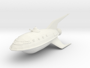 Planet Express Ship in White Natural Versatile Plastic