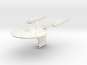Federation Parker Class Destroyer in White Natural Versatile Plastic