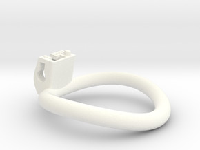 Cherry Keeper Ring - 50x52mm Tall Oval -6° (~51mm) in White Processed Versatile Plastic