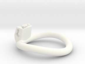 Cherry Keeper Ring - 50x52mm Tall Oval -9° (~51mm) in White Processed Versatile Plastic
