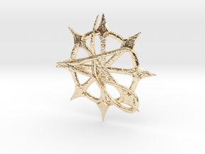 Anarchy Star pendant in 14K Yellow Gold