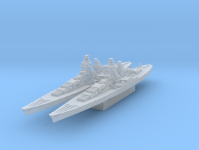 Alsace battleship 1/3000 in Smooth Fine Detail Plastic