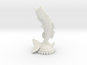 FISH_STATUE in White Natural Versatile Plastic: Medium
