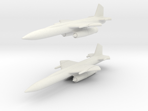 Boeing CIM-10 (IM-99) Bomarc 1/285 6mm (x2) in White Natural Versatile Plastic
