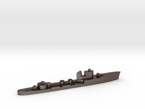 Italian Cigno torpedo boat 1:1800 WW2 in Polished Bronzed-Silver Steel