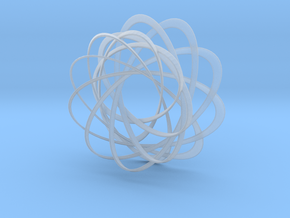 Mobius strips, intertwined in Smooth Fine Detail Plastic