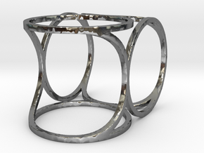 Offset Frame Ring in Polished Silver: 6 / 51.5