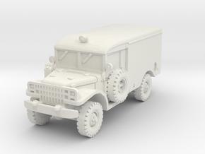 Dodge M43 Ambulance 1/72 in White Natural Versatile Plastic