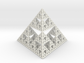 Sierpinski Pyramid in White Strong & Flexible
