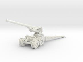 M1 155mm Long Tom 1/87 in White Natural Versatile Plastic