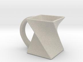 Twist Mug in Natural Sandstone