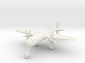 (1:144 what-if) Junkers Ju 268 Manned w/ Turboprop in White Natural Versatile Plastic