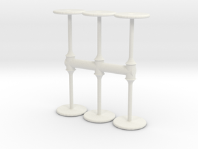 Bar Table (x6) 1/87 in White Natural Versatile Plastic