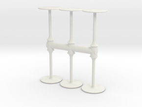 Bar Table (x6) 1/76 in White Natural Versatile Plastic