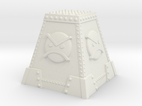 Angry Marine Tank Trap - Angry Marine Icon in White Natural Versatile Plastic