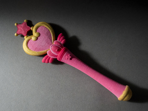 Heart Wand in White Natural Versatile Plastic