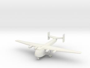 1/285 (6mm) Blackburn B-101 Beverley in White Natural Versatile Plastic