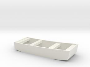1/48 Scale 10 ft Punt General Purpose Work Boat US in White Natural Versatile Plastic