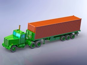M915 Tractor w. M872 Trailer & Container 1/144 in Smooth Fine Detail Plastic